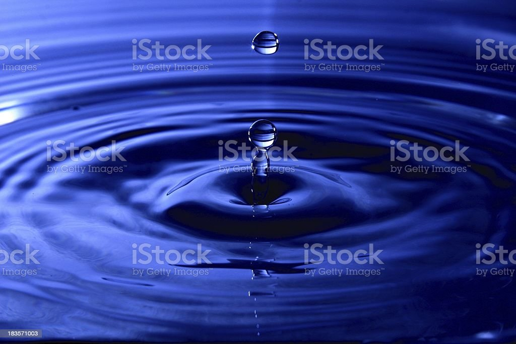 Water Drops - Blue stock photo