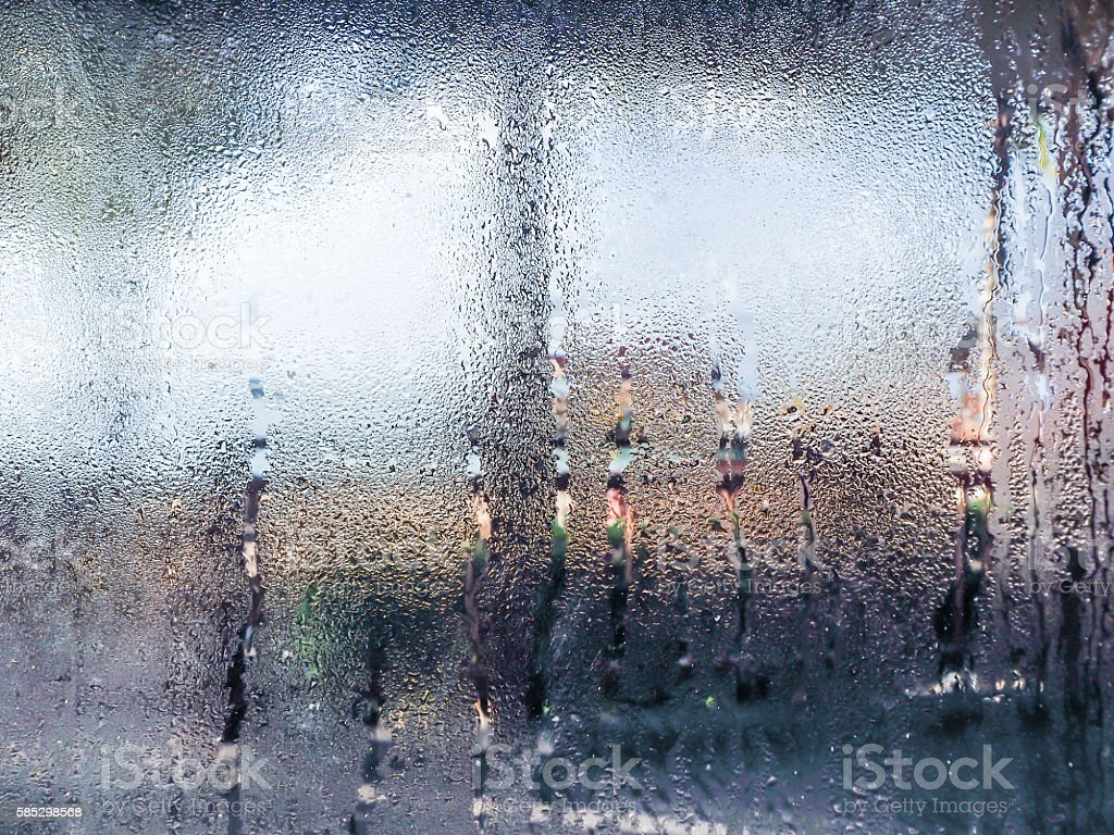 Water drops from home condensation on a window - Royalty-free Abstract Stock Photo