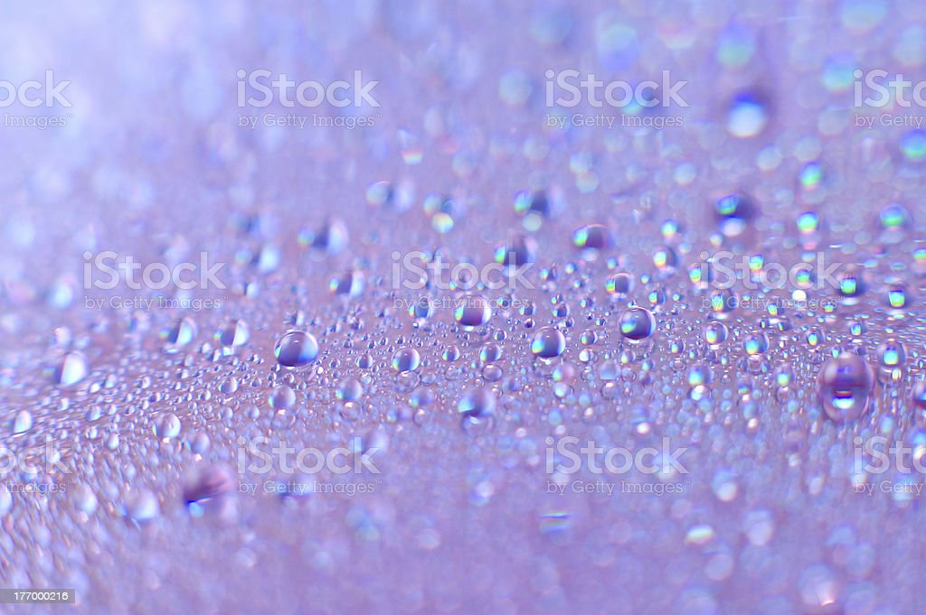 water drops, macro royalty-free stock photo