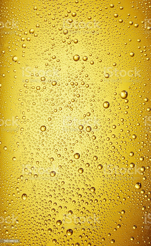 water drops on a beer glass stock photo