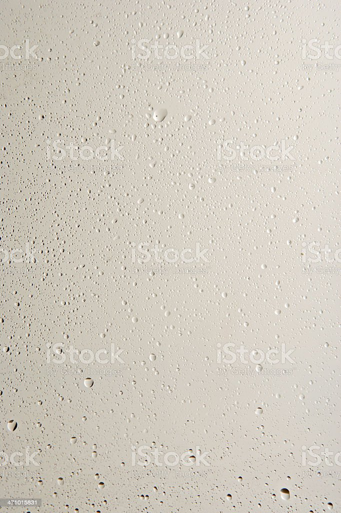 water drops on a glass pane royalty-free stock photo