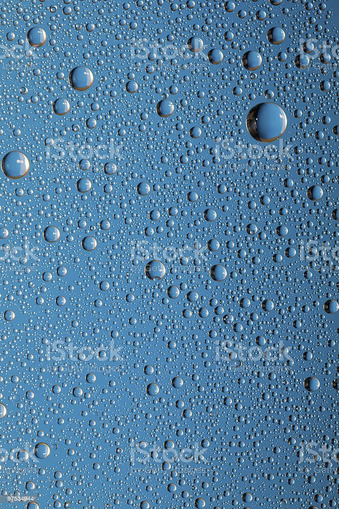 Water drops on a glass surface royalty-free stock photo