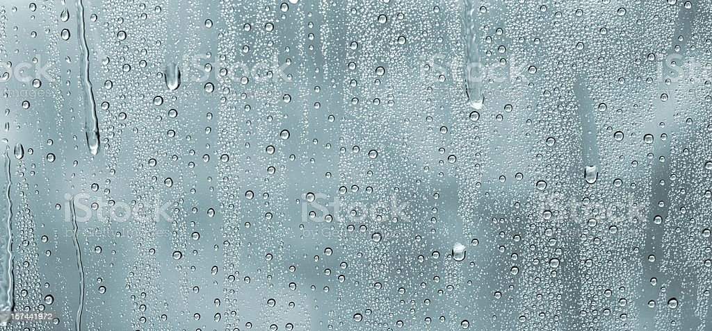 water drops on a window stock photo