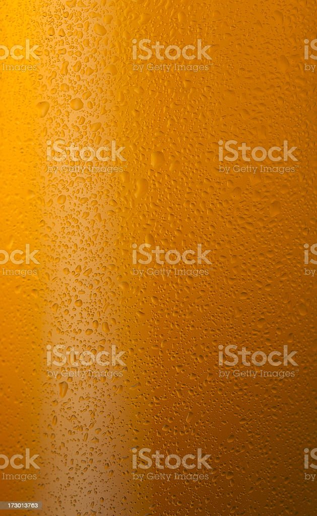 water drops on beer glass close up royalty-free stock photo