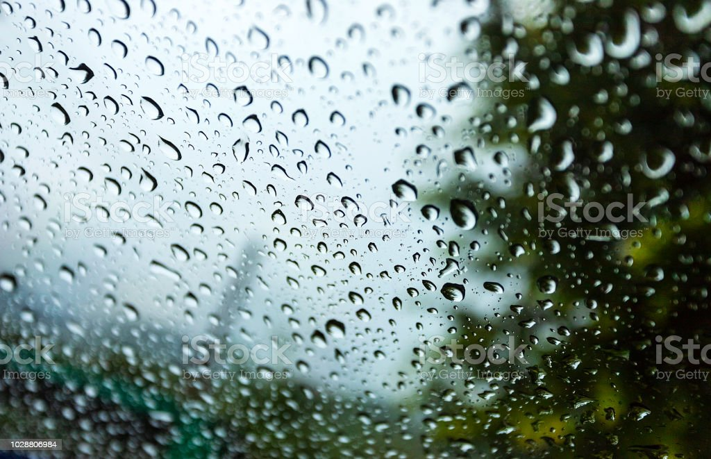Water Drops On Glass In Beautiful Natural Rain Use For Background And Wallpapers Stock Photo Download Image Now Istock