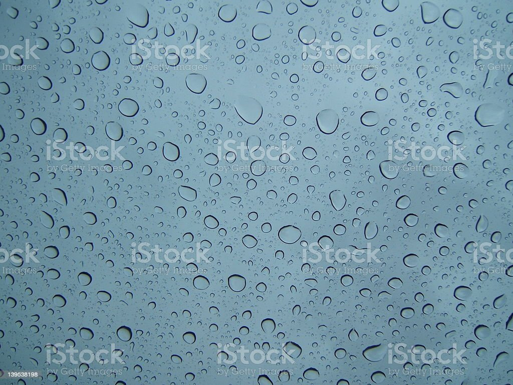 Water drops on glass royalty-free stock photo