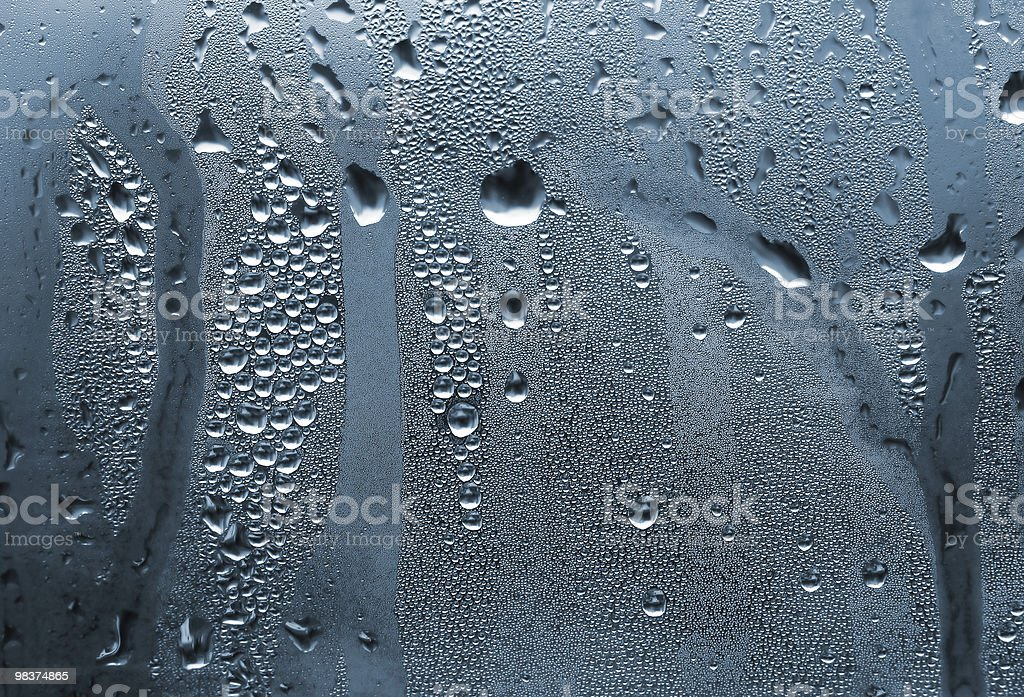 Gocce d'acqua sul vetro foto stock royalty-free