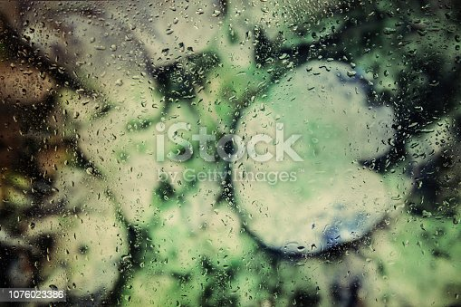 istock Water drops on leaf 1076023386