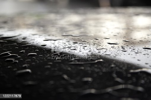 607461154 istock photo Water drops on metal surface 1222117879