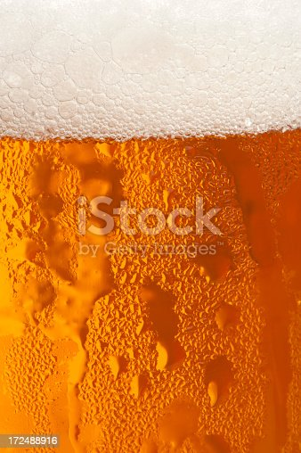 istock Water drops on the glass of beer. Background texture 172488916