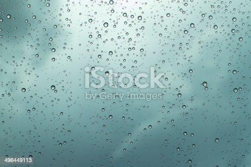 istock Water drops on the glass 496449113