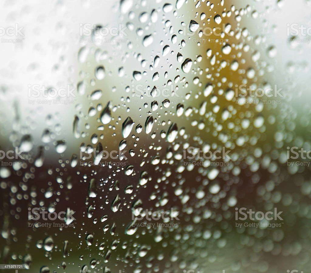 Water drops on the window royalty-free stock photo