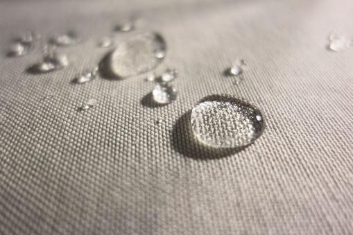 Water drops on Waterproof Textile