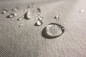 Water drops on Waterproof Textile