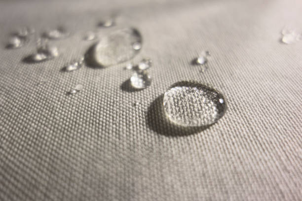 Water drops on Waterproof Textile Water drops on Waterproof Textile waterproof clothing stock pictures, royalty-free photos & images