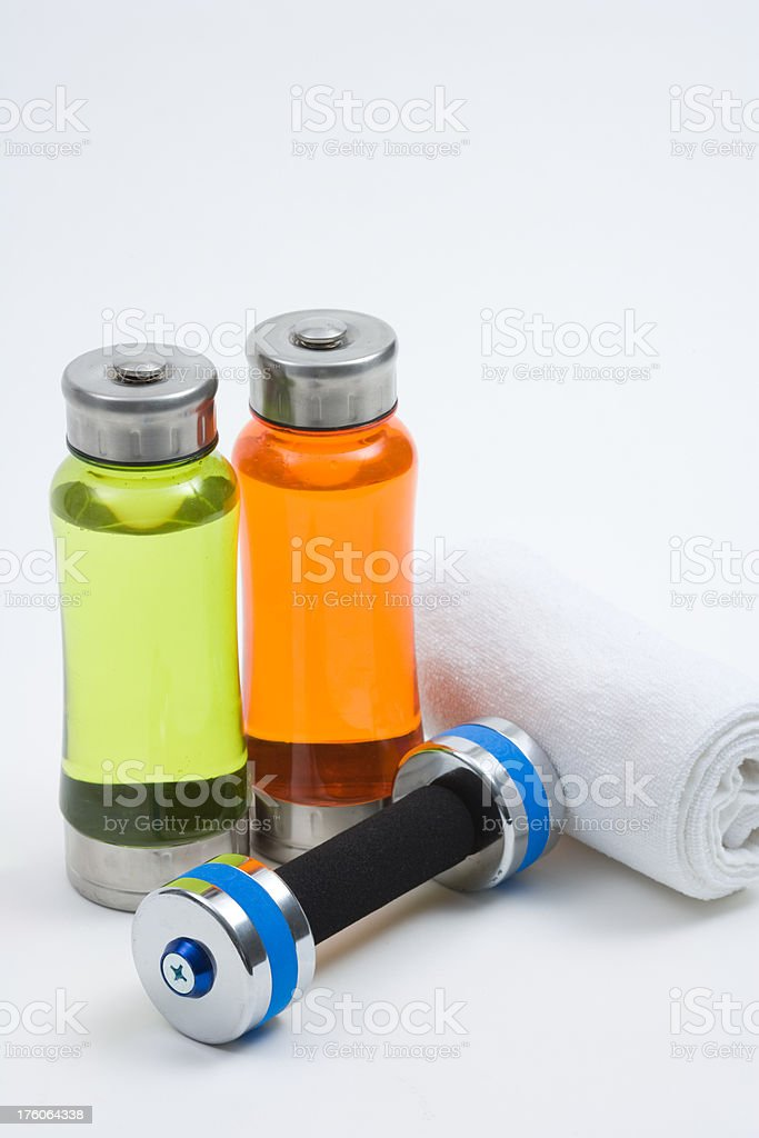 Water & Dumbbell royalty-free stock photo