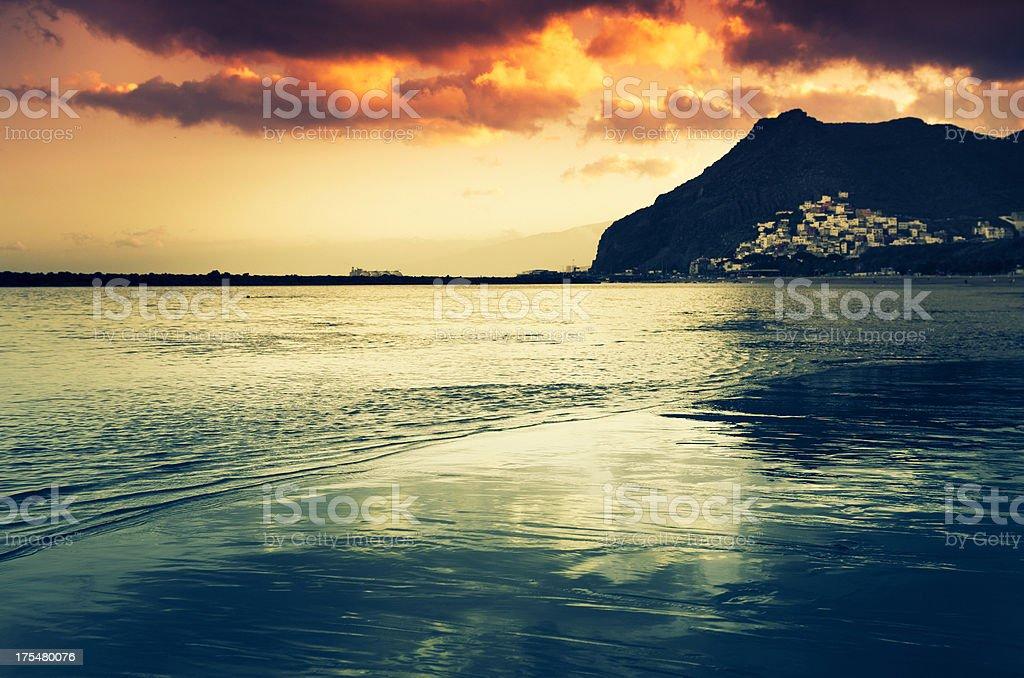 water edge coastline - Playa de las Teresitas royalty-free stock photo