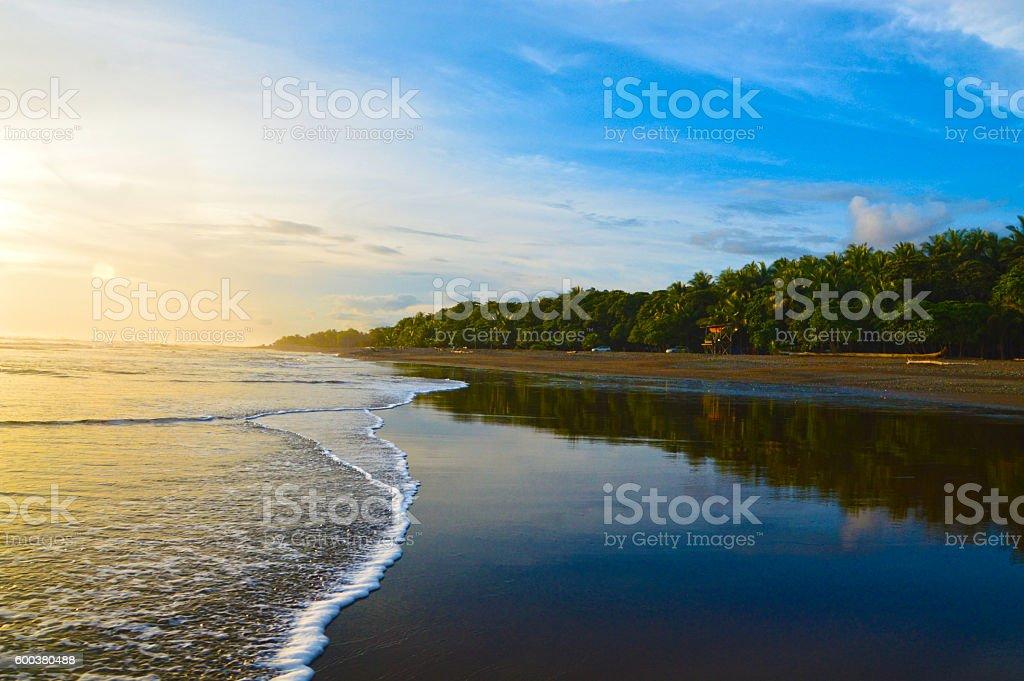 Water edge reflection stock photo