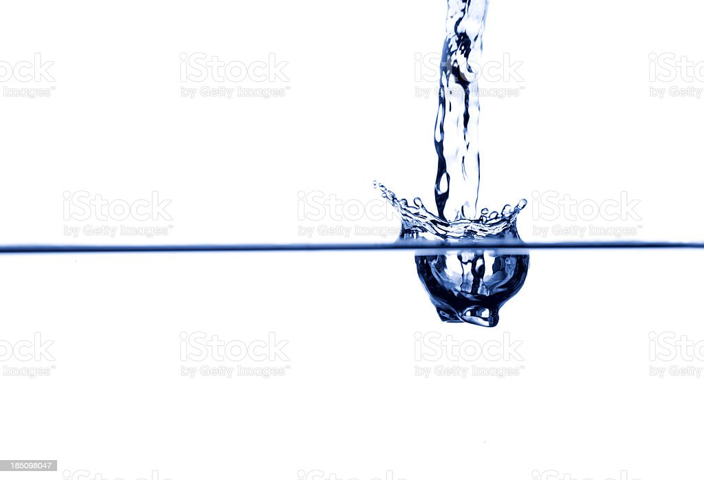 Water entering stock photo