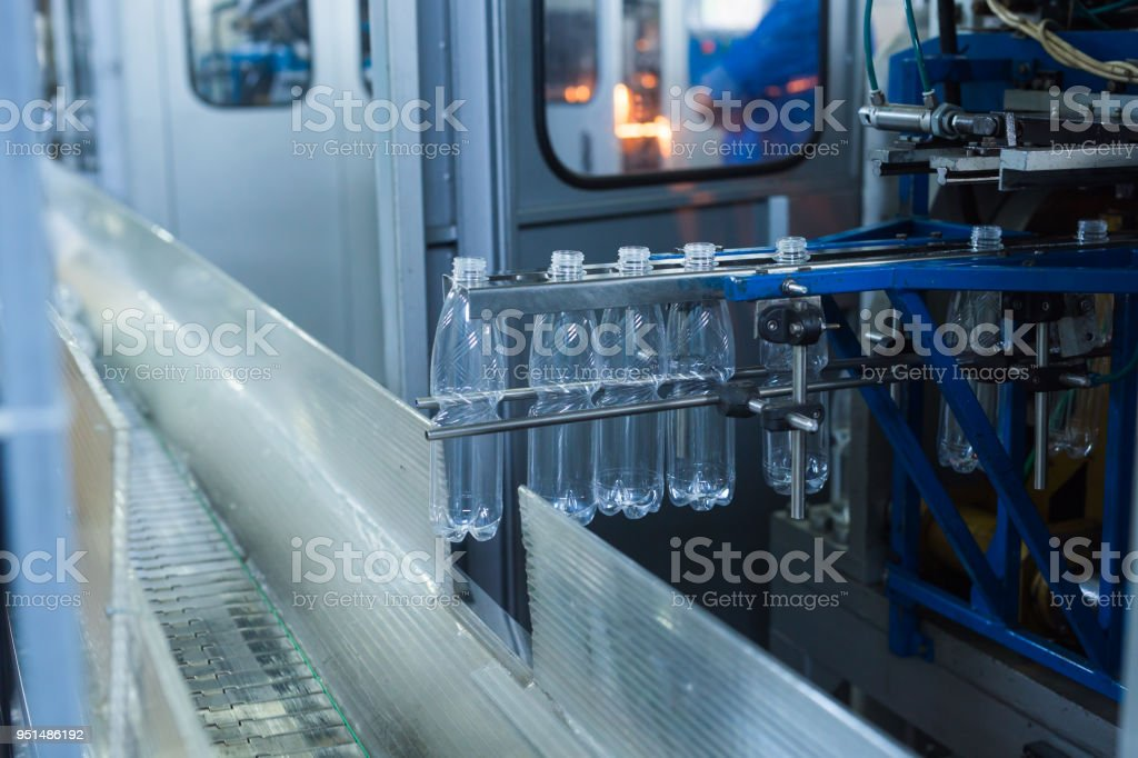 Water factory - Water bottling line for processing and bottling pure...