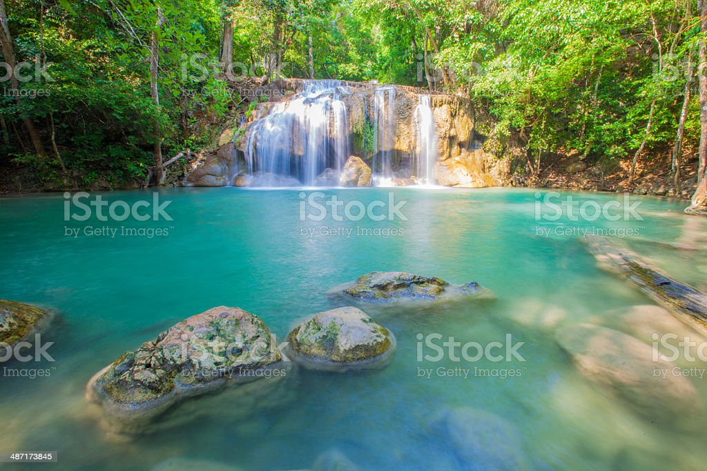 water fall Fairy Forest stock photo