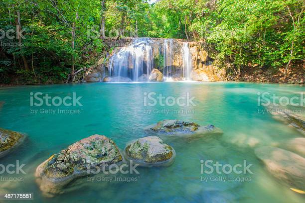 Water Fall Fairy Forest Stock Photo - Download Image Now