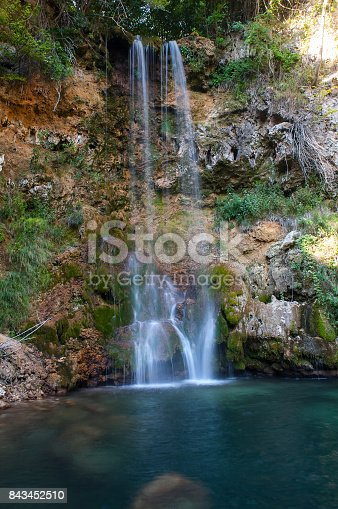 Water fall and cave