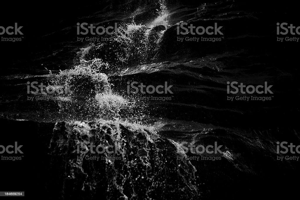 Water falling stock photo