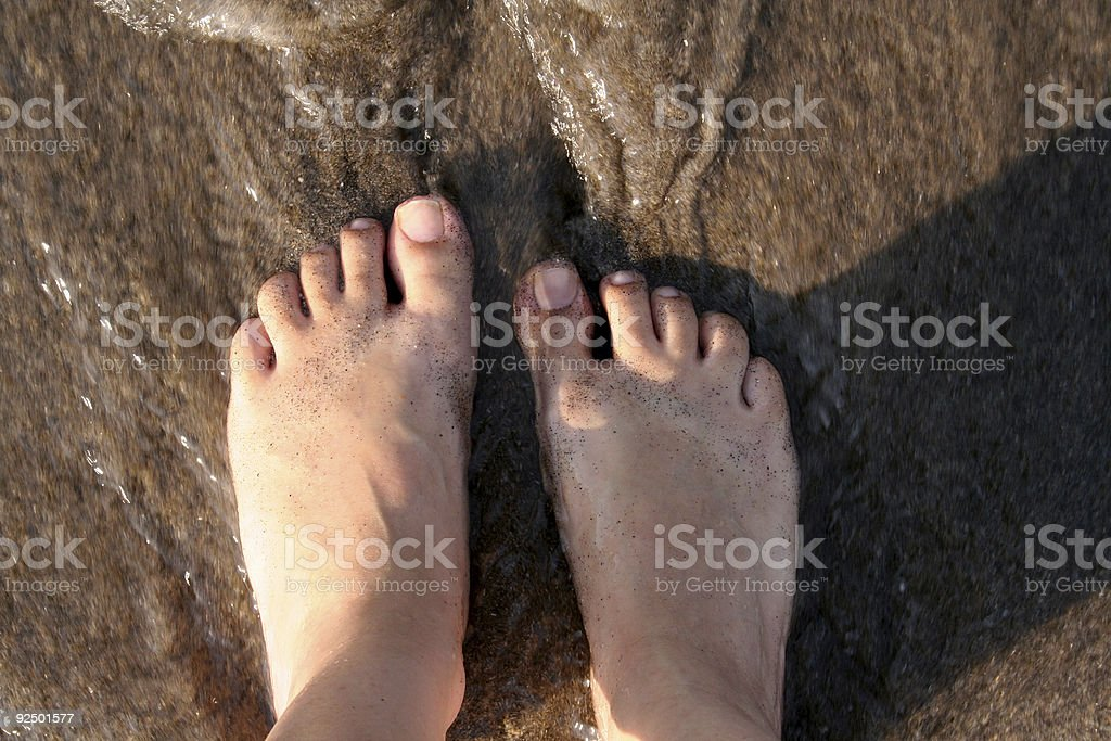 Water feet royalty-free stock photo