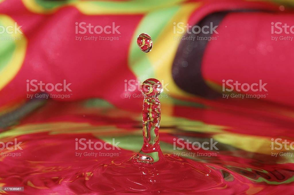 Water Figures, Splashing Water royalty-free stock photo