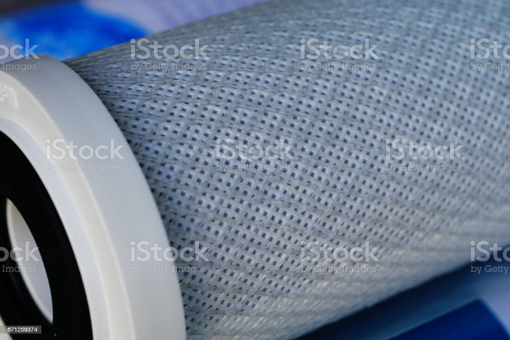 Water filter cartridge stock photo