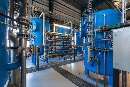 Industrial massive water filtering mechanism.