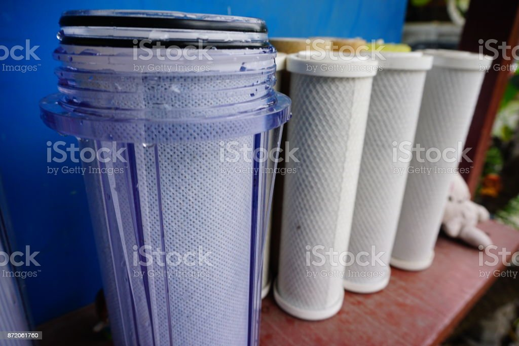 Water filters for better healthy stock photo