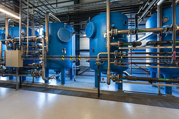 water filters - cogeneration plant stock photos and pictures