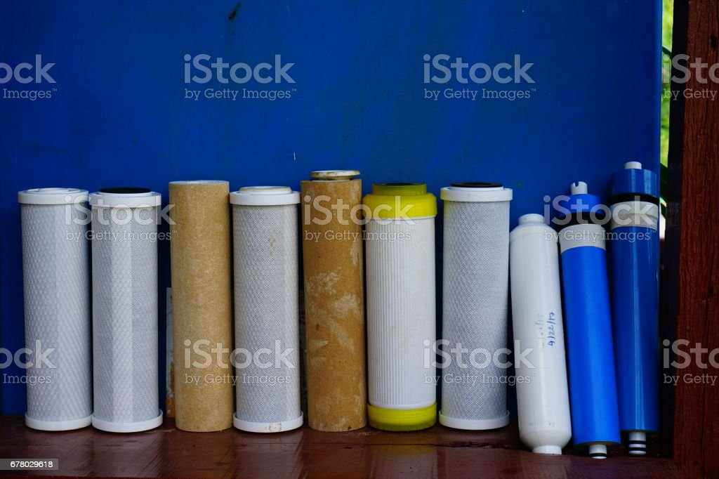 water filters type stock photo