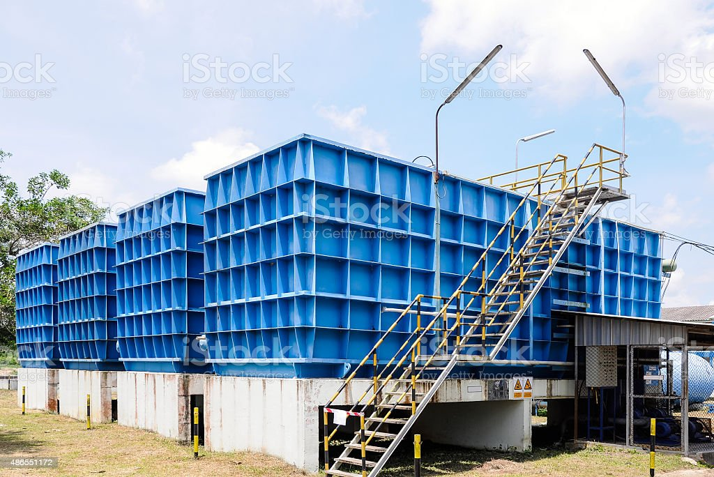 Water filtration plant stock photo