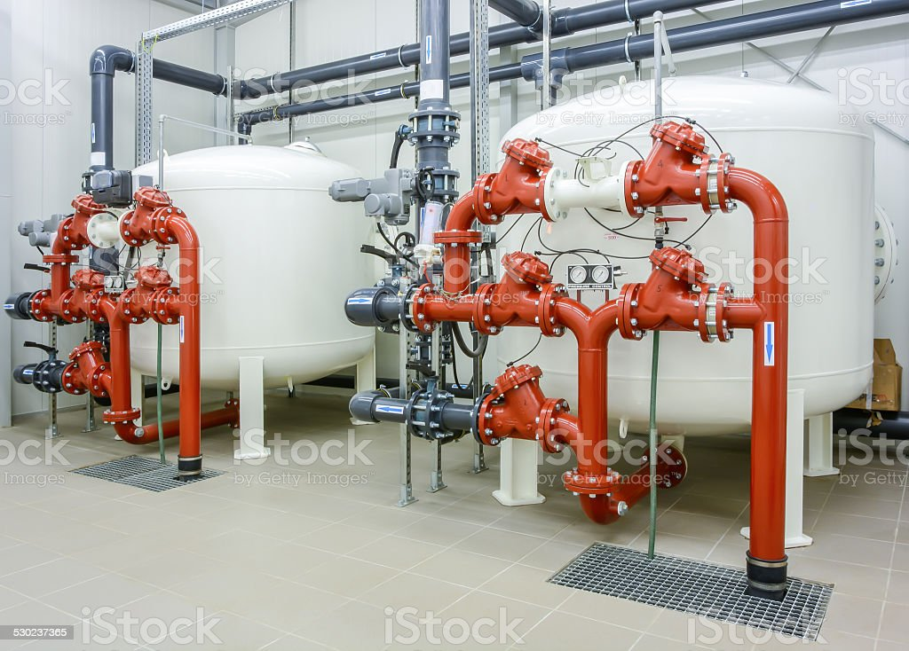 Water filtration system stock photo