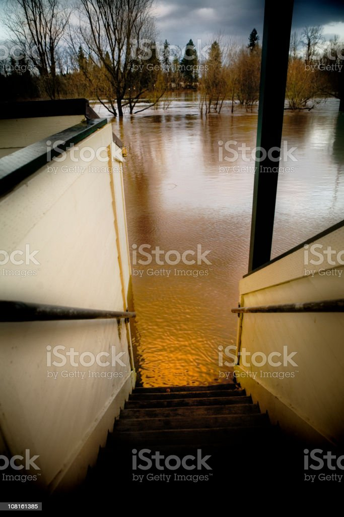 Water Flooding in Park royalty-free stock photo