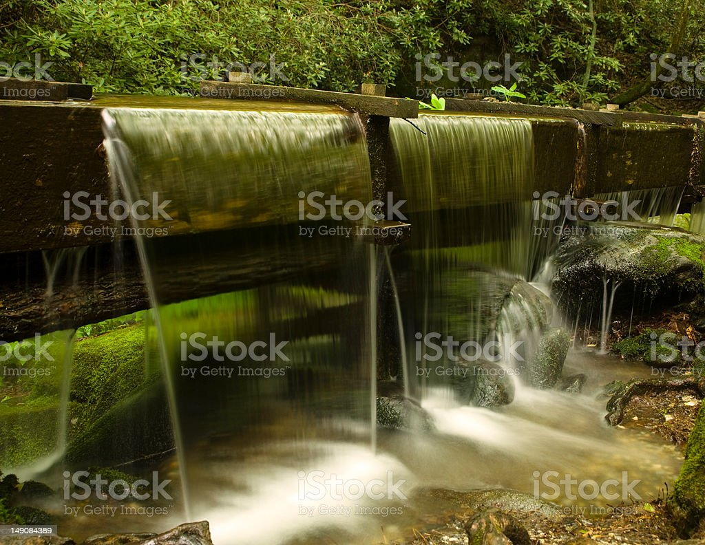 Water flowing from an Old Mill stock photo