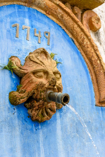 Water fountain built in 1749, 18th century, in Baroque style stock photo