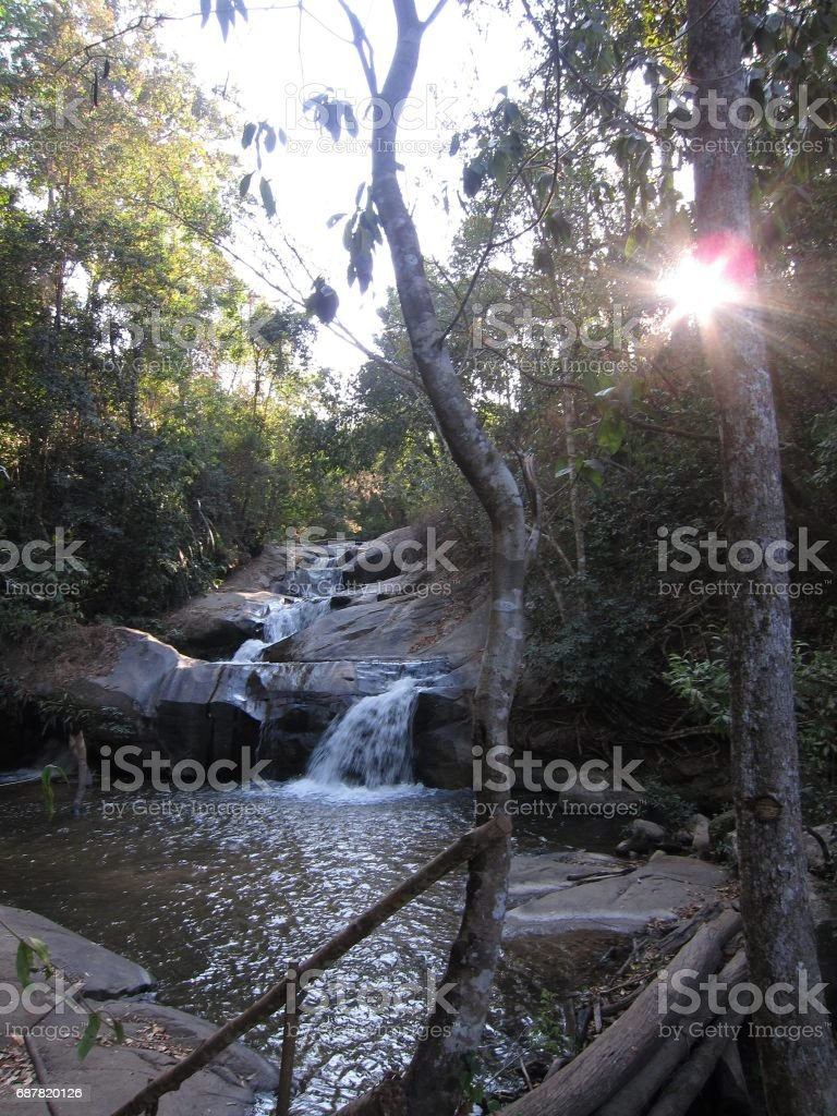 Water fountain in Thailand stock photo