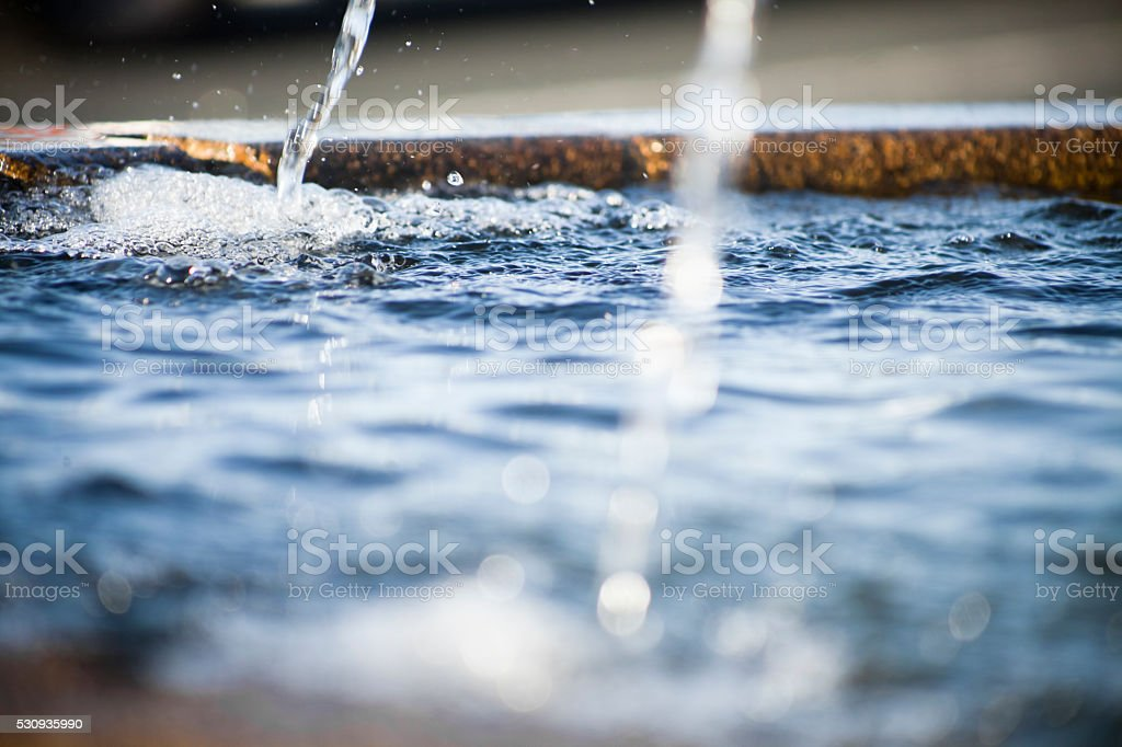 Water Fountain Two Spurts And Water Surface Stock Photo & More ...