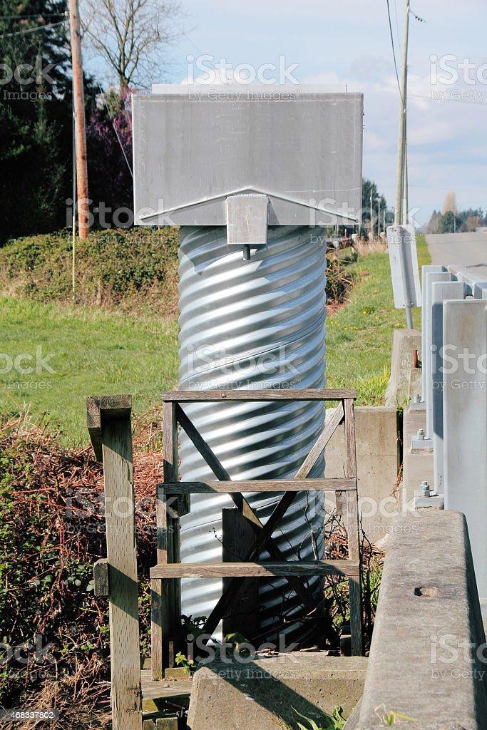 Water Gauging Station stock photo