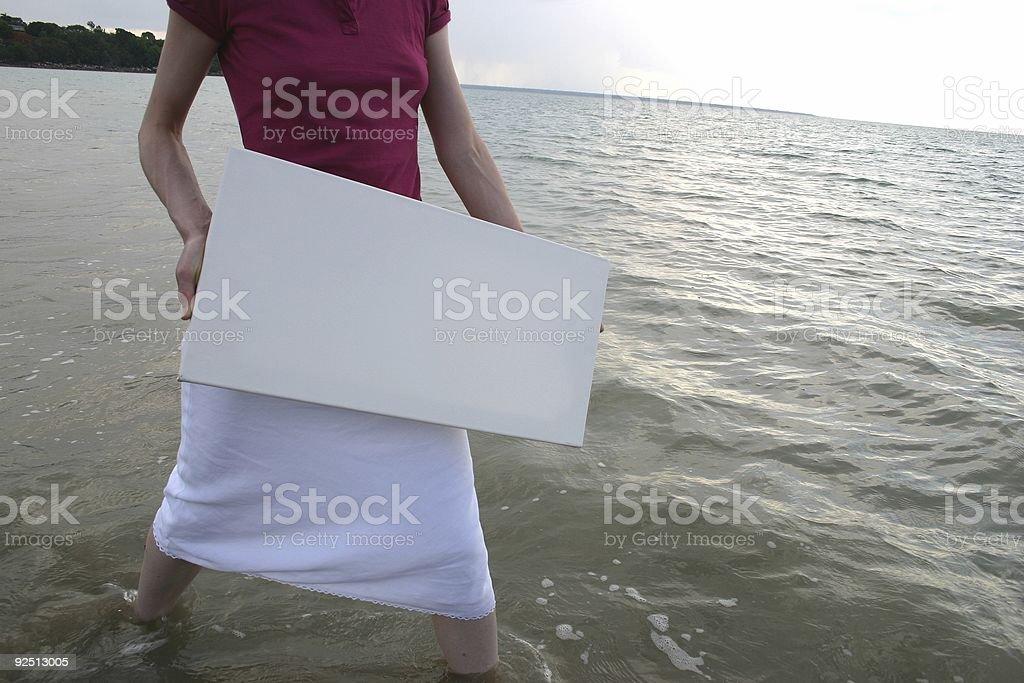 water girl stock photo