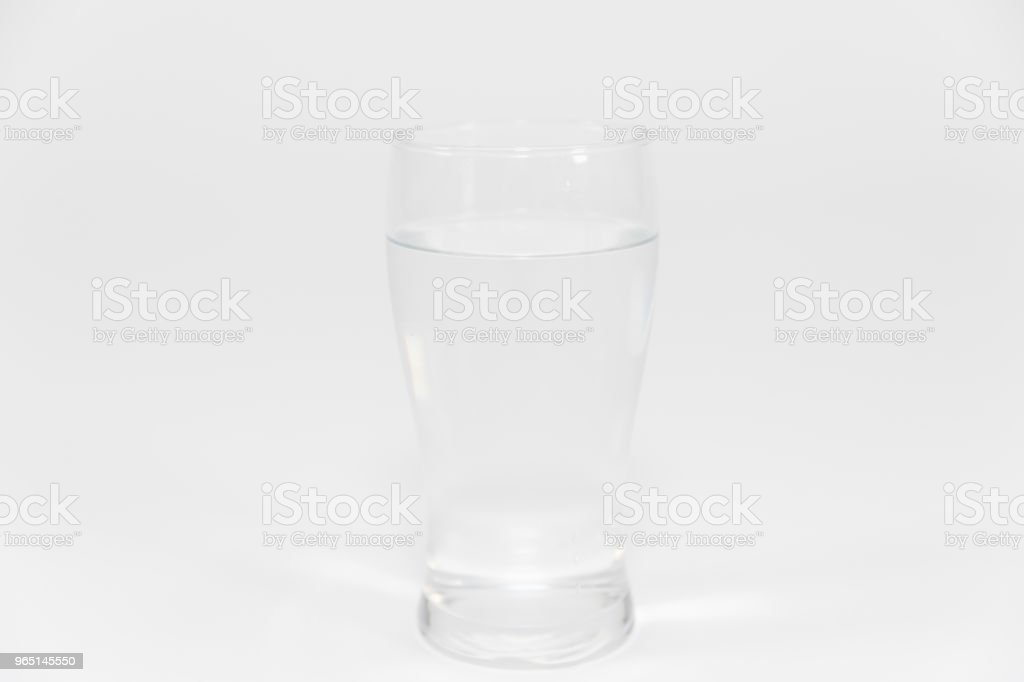 Water glass isolated on white royalty-free stock photo