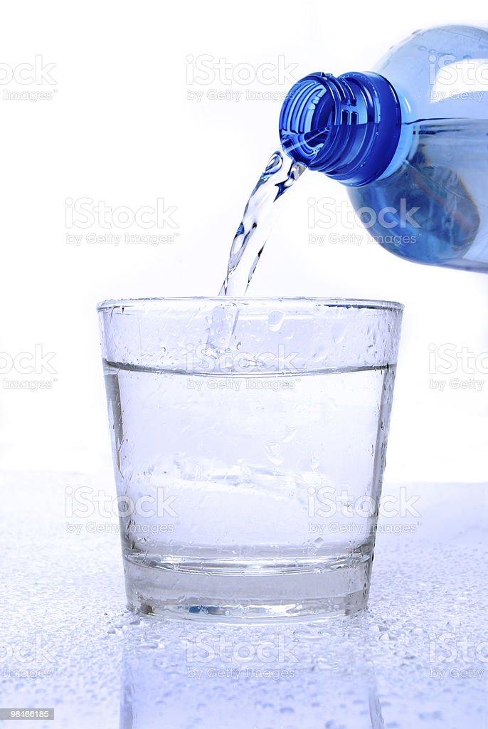 Bicchiere d'acqua foto stock royalty-free