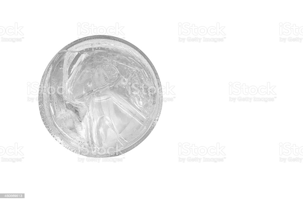 water glass, top view royalty-free stock photo