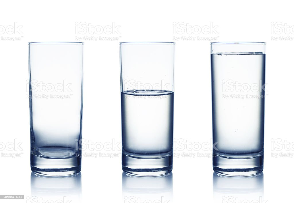 water glasses stock photo
