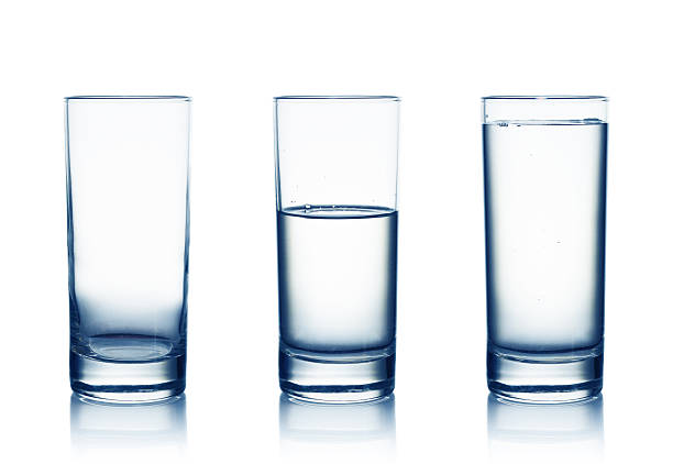 water glasses - glass stock photos and pictures
