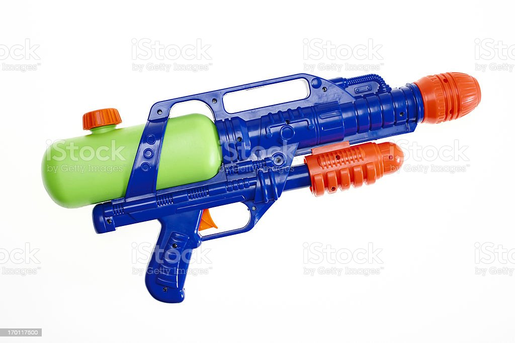 Water gun on white stock photo
